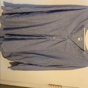 Old Navy Blue/wht striped 100% Cotton Blouse